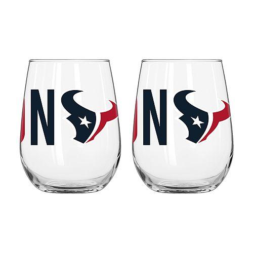 Boelter Houston Texans Stemless Wine Glass Set