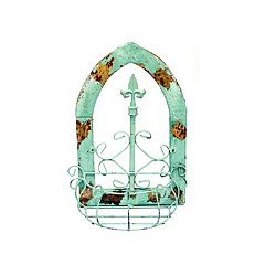 Rustic Arrow Green Window With Gothic Basket Wall Art