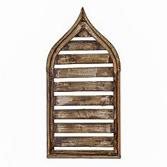 Rustic Arrow Aladin Blind Wood Window Wall Art