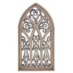 Rustic Arrow Cathedral Plasma Wood Window