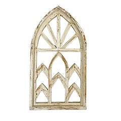 Rustic Arrow Church Window With 6 Spaces Wall Art