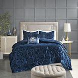 Madison Park Muriel Faux Velvet Comforter Set