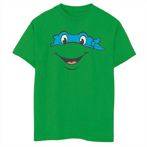 Boys 8 20 Teenage Mutant Ninja Turtles Leonardo Face Short Sleeve Tee