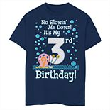 Boys 8-20 SpongeBob SquarePants Gary 3rd Birthday Short Sleeve Tee