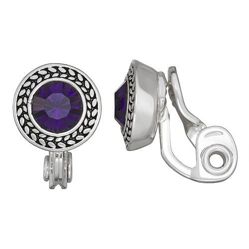 Women's Napier Clear Glass Button Clip
