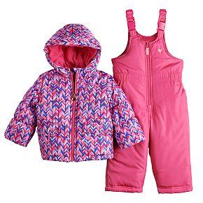 Baby Girl OshKosh B?gosh® Chevron Snowsuit