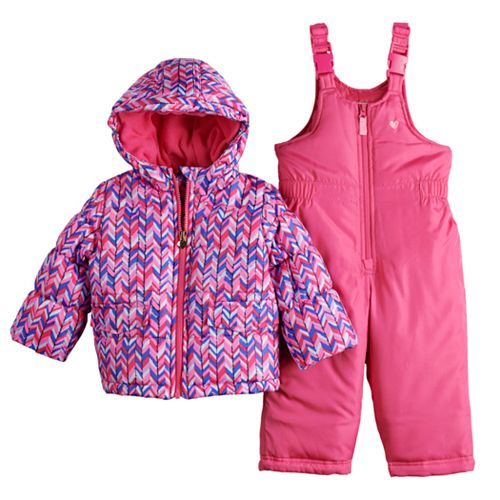 Baby Girl OshKosh B'gosh® Chevron Snowsuit