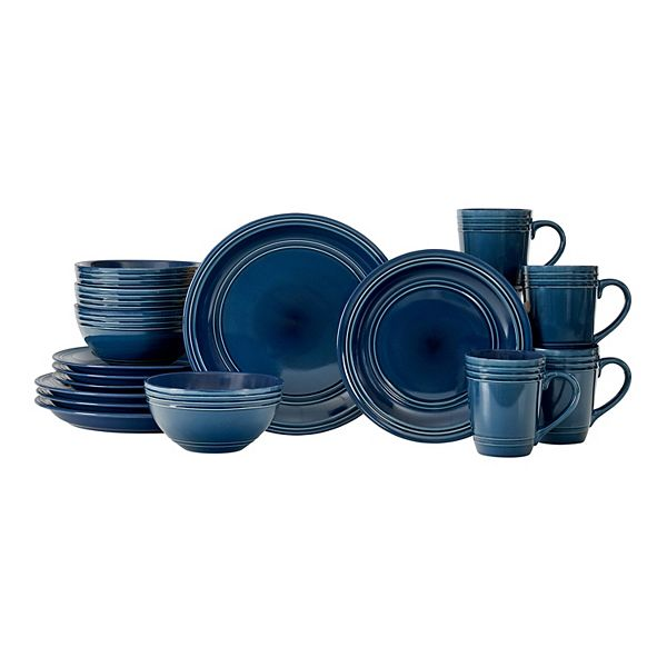 16-Piece Baum Brothers Allure Dinnerware Set (Blue)