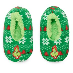 Boys 8-20 Dr. Seuss How the Grinch Stole Christmas Slipper Socks