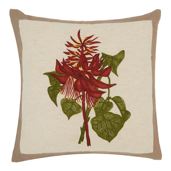 Mina Victory Royal Palm Wildflower Bouquet Throw Pillow