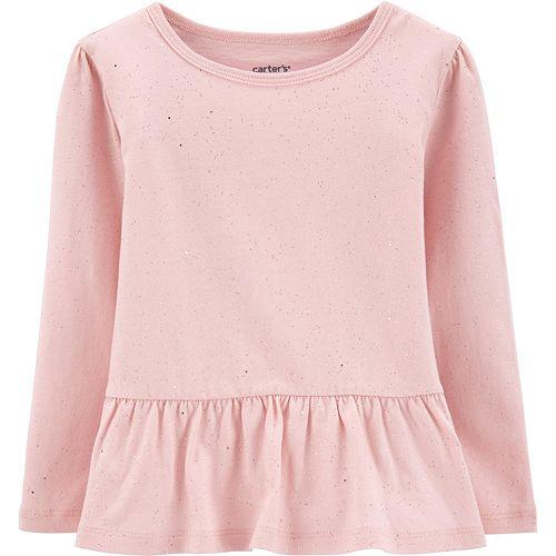 Toddler Girl Carter's Sparkly Peplum Top