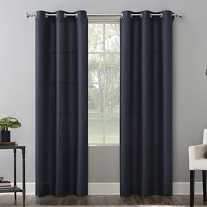 2 Pack Decorative Solid Window Curtains