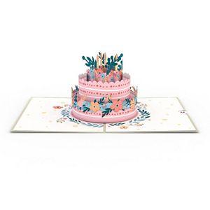 "Lovepop ""Floral Birthday Cake"" Greeting Card"