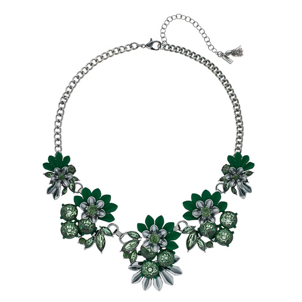 Simply Vera Vera Wang Green Flower Frontal Necklace