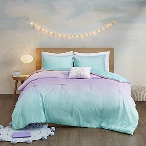 Mi Zone Sparkle Metallic Glitter Printed Reversible Comforter Set