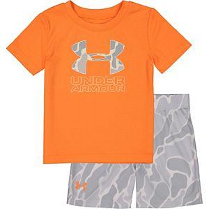 Toddler Boy Under Armour Diverge Big Logo Camo Tee And Short Set