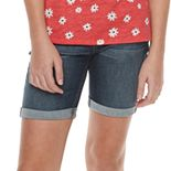 Girls 4-18 & Plus Size SO® Cuffed Bermuda Jean Shorts