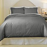 Pointhaven Farmhouse Cotton Flannel Duvet Cover Set