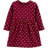 Baby Girl Carter's Bow Fleece Holiday Dress