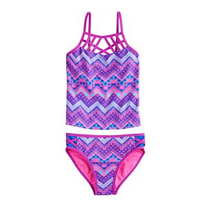 Girls 7-16 & Plus Size SO Around The Global Tankini and Bottoms Set