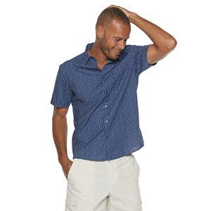 Men's Apt. 9 Short Sleeve Untucked Regular-Fit Pattern Woven Shirt