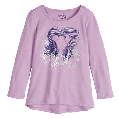 """Disney's Frozen Elsa & Anna Toddler Girl """"Sisters Forever"""" Graphic Tee by Jumping Beans®"""