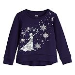 Disney's Frozen Elsa Toddler Girl Glitter Graphic Fleece Sweatshirt by Jumping Beans®