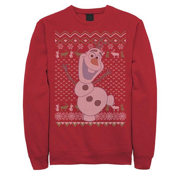 Men's Frozen Olaf Ugly Christmas Sweater Fleece