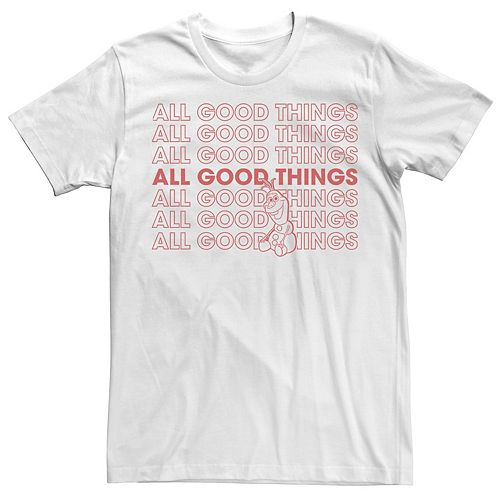 Men's Frozen Olaf All Good Things Short Sleeve Tee