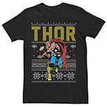 Men's Marvel Thor Ugly Christmas Sweater Short Sleeve Tee