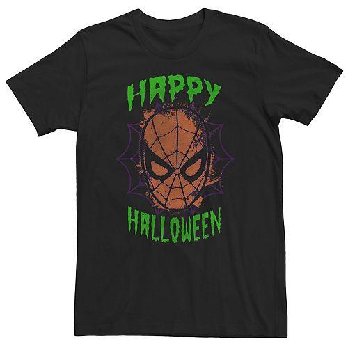 Men's Marvel Spider-Man Happy Halloween Short Sleeve Tee