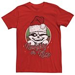 Men's Marvel Rocket Raccoon Naughty Or Nice Short Sleeve Tee