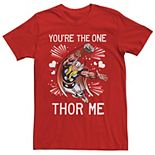 Men's Marvel You're The One Thor Me Valentine's Day Short Sleeve Tee