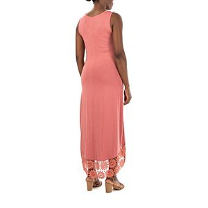 Women's Nina Leonard Crochet-Hem Midi Dress