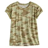 Girls 4-20 & Plus Size SO® Rolled Cuff Drop Shoulder Tee