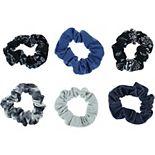 SO® Juniors' 6 Pack Bandanna Print And Tie Dye Scrunchie Set