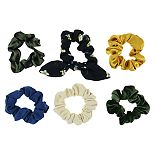 SO® Juniors' Velvet And Floral Scrunchie 6 Pack