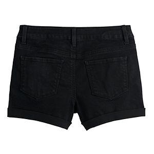 Girls 4-18 & Plus Size SO® Cuffed Jean Shorts