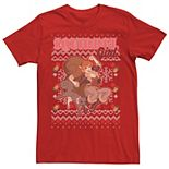 Men's Marvel Squirrel Girl And Tip Toe Portrait Christmas Design Tee