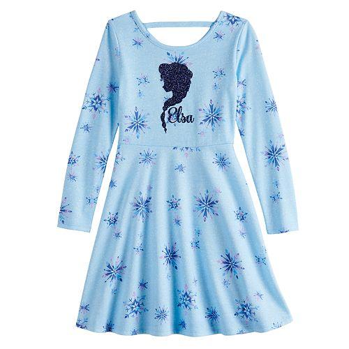 Disney's Frozen Elsa Girls 4-12 Print Skater Dress by Jumping Beans®