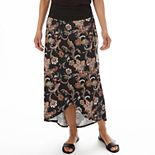 Petite Apt. 9® Scroll Print Tulip-Hem Maxi Skirt