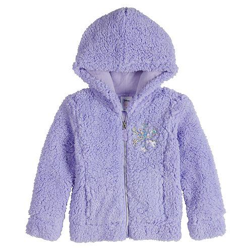 Disney's Frozen Toddler Girl Snowflake Plush Zip Front Hoodie by Jumping Beans®