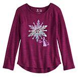 Disney's Frozen 2 Elsa Girls 4-12 Long Sleeve Raglan Sequin Top by Jumping Beans®