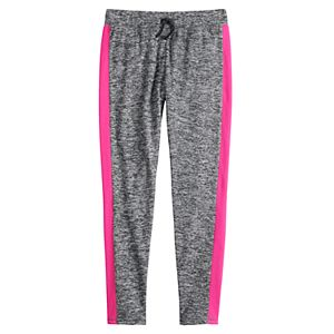 Girls 4-20 & Plus Size SO® Side Stripe Microfleece Leggings