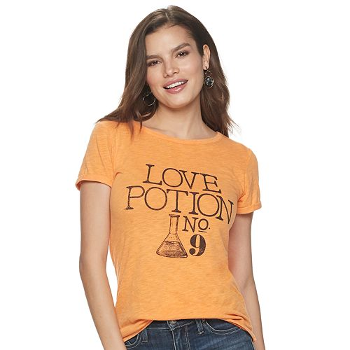 Women's Rock & Republic Halloween Love Potion Crew Neck Tee