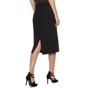 Petite Nine West Belted Pencil Skirt