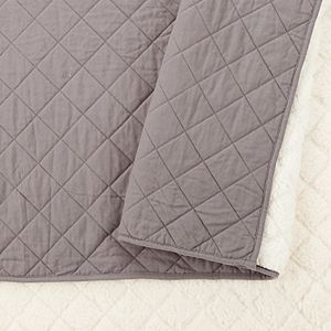 Modern Heirloom Flannel Sherpa Quilt Set