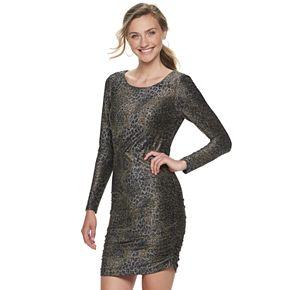 Juniors' Speechless Long Sleeve Print Dress