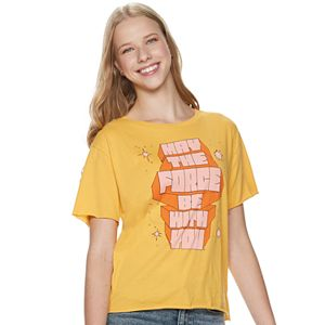 Juniors' Star Wars May The Force Be With You Graphic Tee