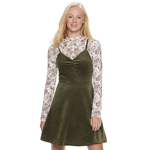 Juniors' Mudd® Combination Dress